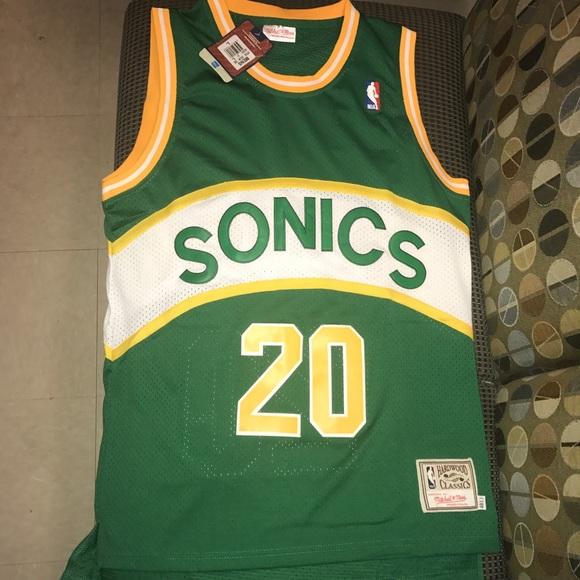 194dda4ae9e Gary Payton Seattle Supersonics NBA jersey large